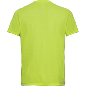 Odlo BL Millennium Element Top Manga Corta Cuello Redondo Hombre, acid lime melange-placed print ss19